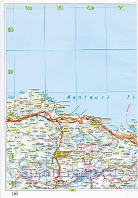 Страны басков карта дорог страны