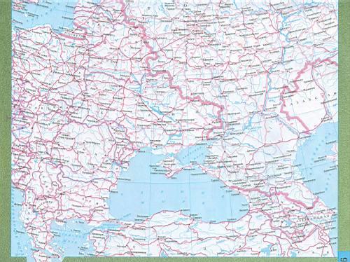 Карта дорог Европы. Подробная