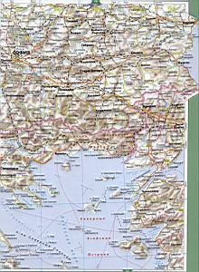 Подробная карта турции на русском
