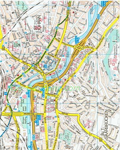 Карта улиц Саарбрюкена. Подробная карта улиц города Саарбрюкен: http://euro-atlas.ru/Saarbruecken_1116841.html