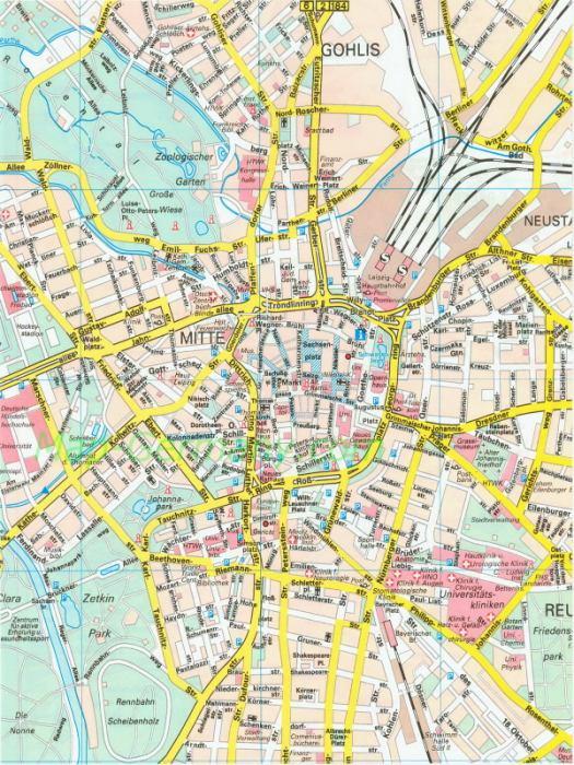 Карта города Челябинск на 2