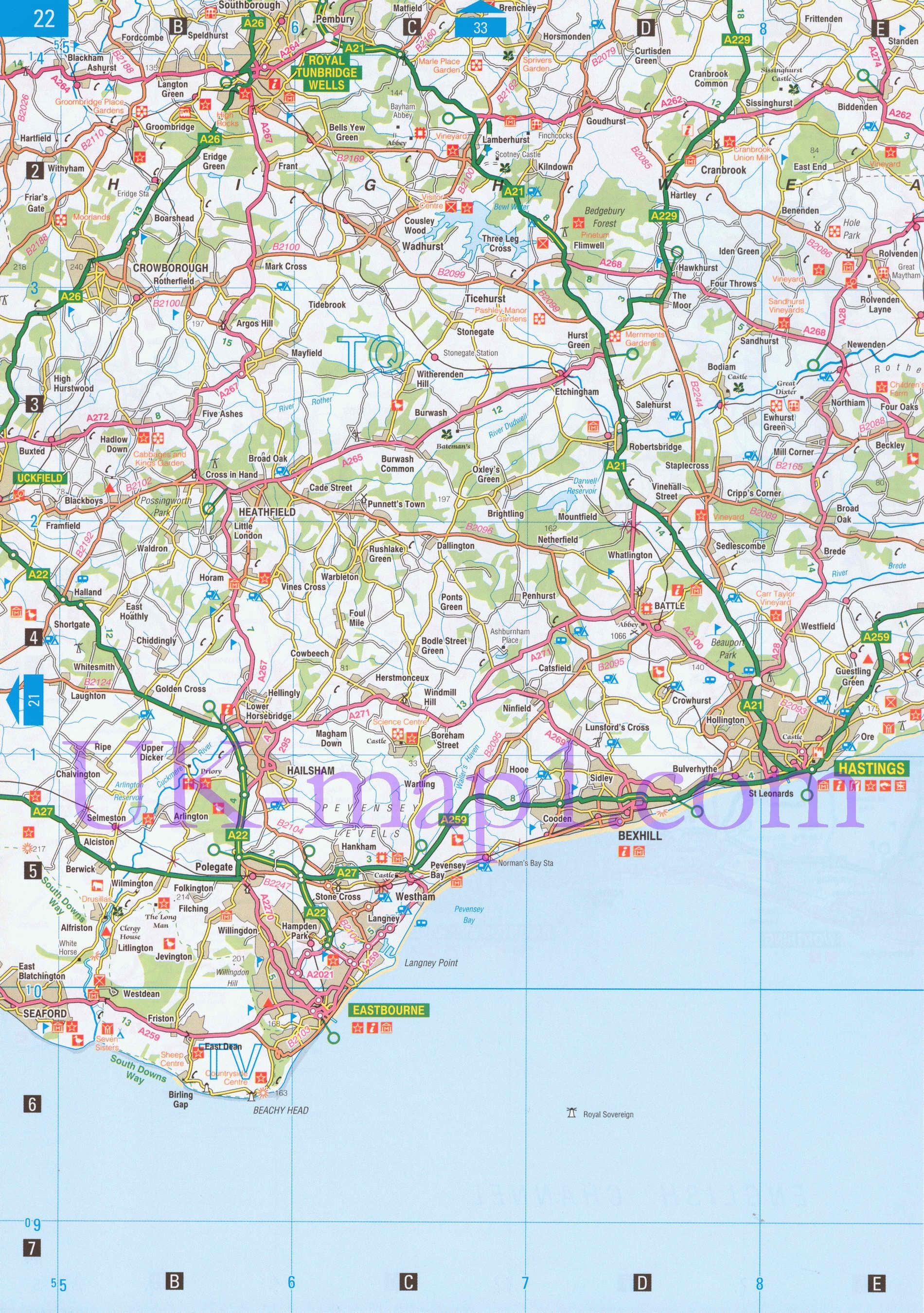 Англия карты графство сассекс англия