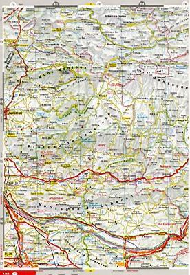Карта автомобильных дорог лазурного