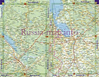 Карта дорог Псковской области.