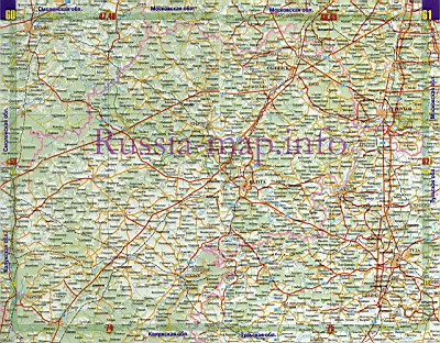 Карта Автодорог Калужской Области
