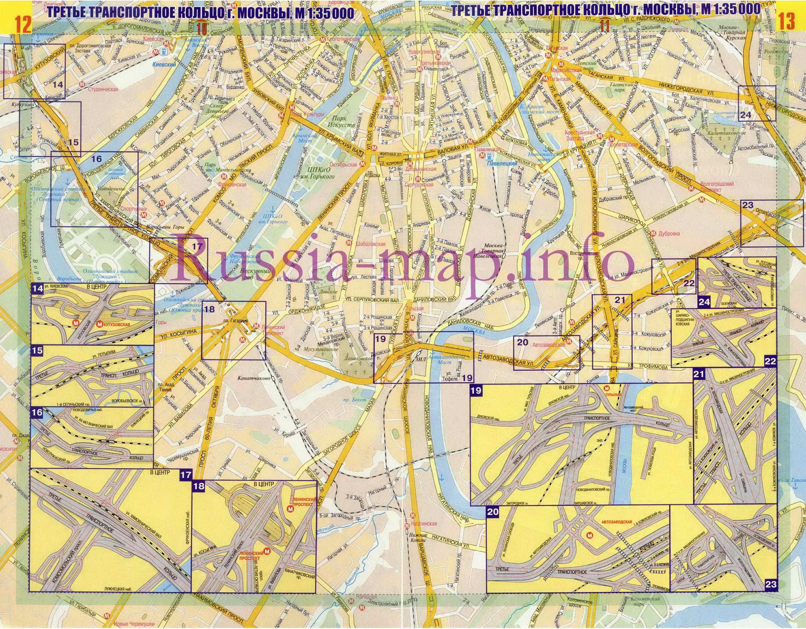 Карта москвы со станциями метро