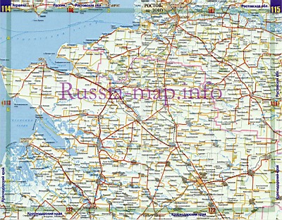 карта автодорог краснодарского