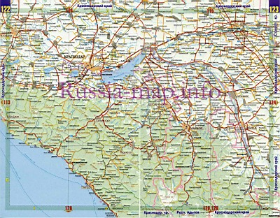 схема автодорог краснодарского
