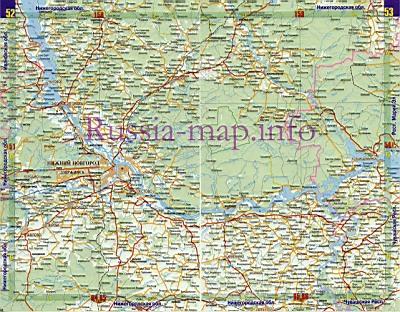 атлас автомобильных дорог нижегородской области