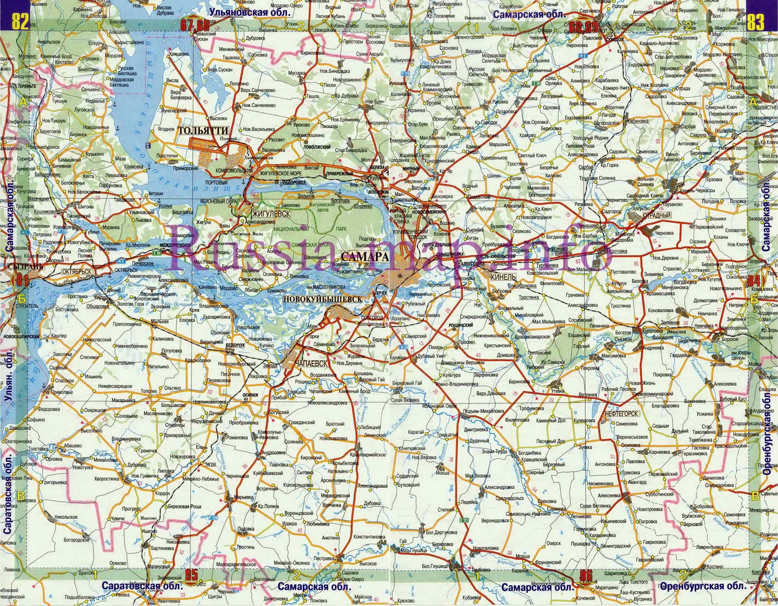 Подробная карта автомобильных дорог