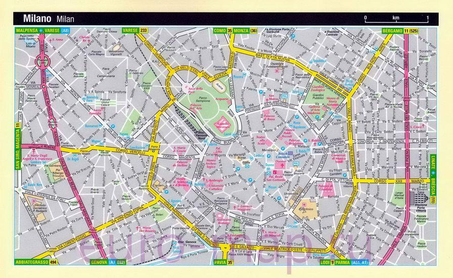 прохождения практики: карта милана на русском языке с достопримечательностями мой