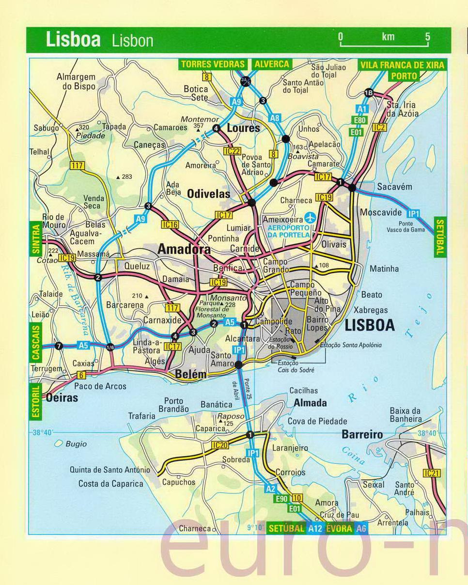 Схема движения трамваев в лиссабоне
