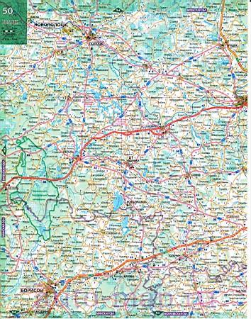 Карта белоруссии большая подробная